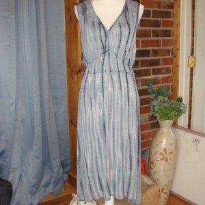 Knox Rose Sleeveless Navy Tie Dye Dress M